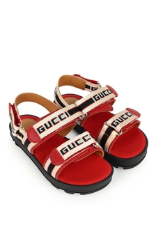 Ivory & Red Logo Sandals