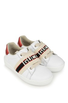 White White Leather Ace Trainers