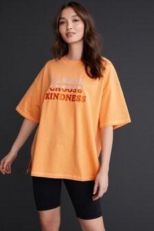 Orange Ombre Cotton Blend Cycle Short Set