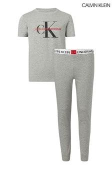 Calvin Klein Grey Minigram Pyjama Set