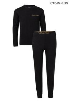 Calvin Klein Black Modern Cotton Pyjama Set