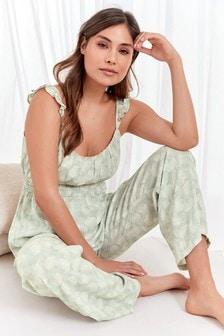 Green Leaves Cami Pyjamas