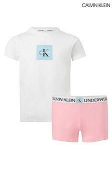 Calvin Klein Pink Minigram Pyjama Set