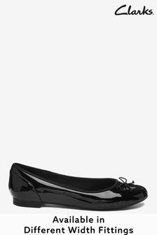 Clarks Black Pat Couture Bloom Shoes