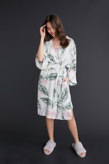 Green Floral Lightweight Robe