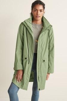 Green Rubber Rain Jacket