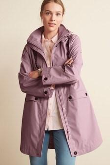 Lilac Rubber Rain Jacket
