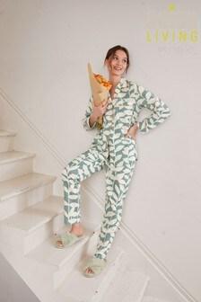 Blue Odesa Scion At Next Button Through Pyjamas