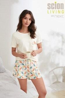 Cream Lintu Scion At Next Short Set Pyjamas