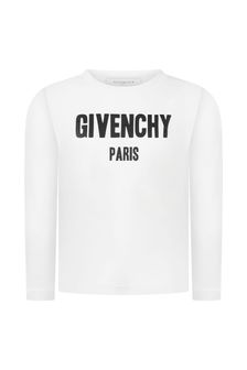 Givenchy Kids Boys Logo Print Cotton Top