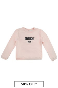 Givenchy Kids Girls Logo Print Sweater