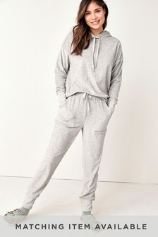 Grey Towelling Lounge Joggers
