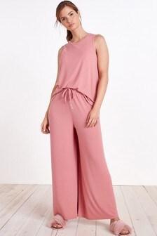 Pink Ribbed Cami Pyjamas