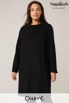 Studio 8 Black Bellona Knit Coat