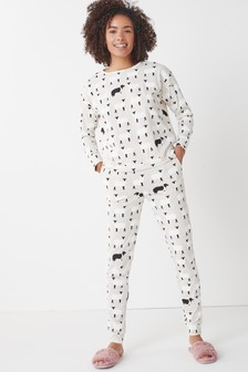 Ecru Sheep Dogs Cotton Blend Pyjamas