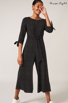 Phase Eight Black Amber Spot Print Jumpsuit
