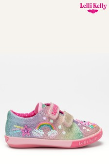 Lelli Kelly Pink Unicorn And Rainbow Shoes