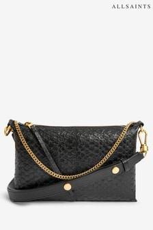 AllSaints Black Eve Leather Cross-Body Bag