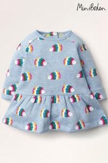 Boden Blue Cosy Printed Sweatshirt Dress