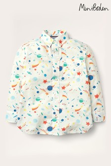 Boden Ivory Space Print Party Shirt