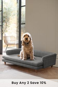 Tweedy Check Lawson Grey Sherlock Large Pet Bed