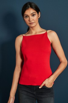 Red Chain Detail Cami