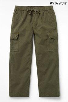 White Stuff Green Kids Niko Cotton Cargo Trousers