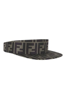 Kids Brown FF Logo Sun Visor