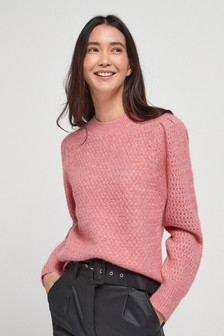 Pink Soft Textured Jumper