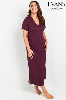 Evans Curve Purple V-Neck Nightdress