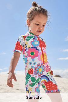 Ecru Floral Sunsafe Suit (3mths-7yrs)