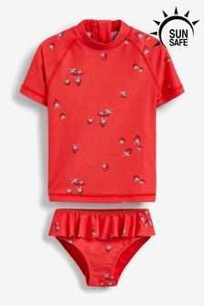 Red 2 Piece Sunsafe Suit (3mths-7yrs)