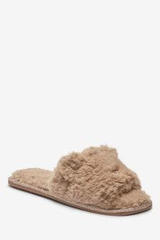 Brown Bear Character Slider Slippers