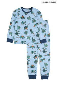 Polarn O. Pyret Blue GOTS Organic Space Pyjamas