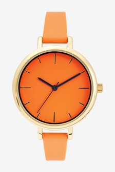 Orange Technical Strap Face Watch