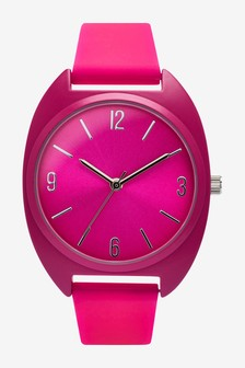Pink Silicon Sporty Watch