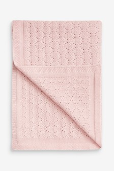 Pink Pointelle Blanket (Newborn)