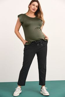Charcoal Maternity Tailored Jersey Joggers