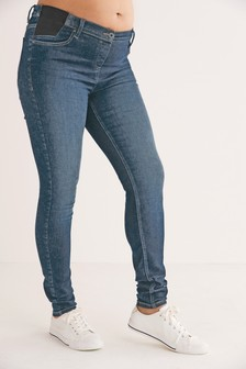 Denim Mid Blue Maternity Grow With You Skinny Jeans