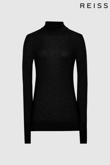 Reiss Sophie Knitted Roll Neck Top