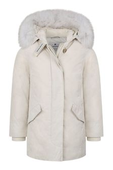 Girls Stone Down Padded Arctic Parka Coat