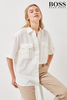BOSS White Bawakine Shirt