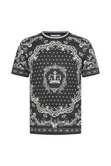 Dolce & Gabbana Kids Boys Cotton Bandana Print T-Shirt