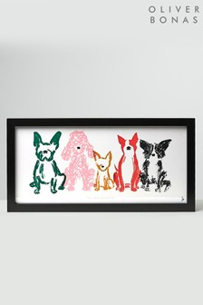 Oliver Bonas The Usual Suspects Dog Wall Art