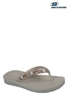 Skechers Brown Meditation Daisy Garden Summer Sandals