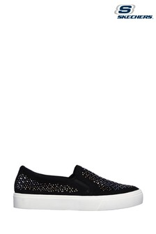 Skechers Black Poppy Diamond Gal Slip-On Shoes