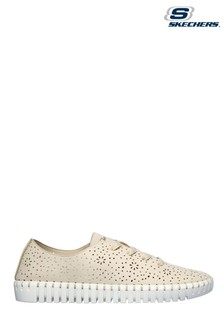 Skechers Cream Sepulveda Blvd Floral Maze Lace Shoes