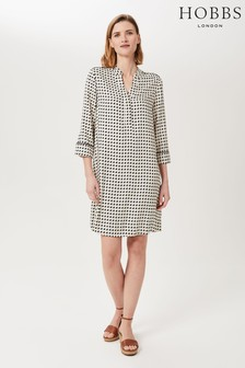 Hobbs Grey Amara Tunic Dress