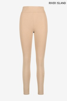 River Island Beige One Printed Wrap Leggings