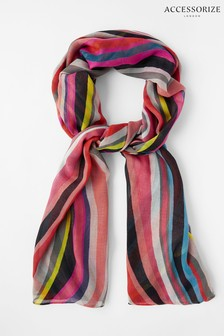 Accessorize Retro Swirl Scarf In Recycled Polyester